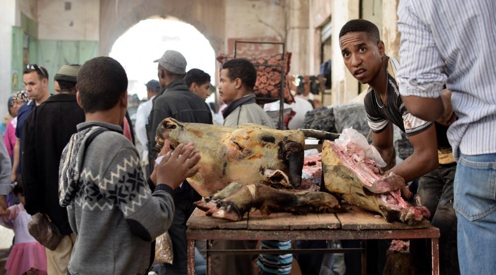 Marokko SOuk Rissani Fleisch