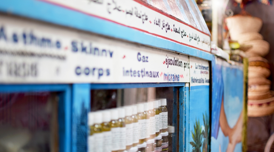 Marokko SOuk Rissani Pharmacy