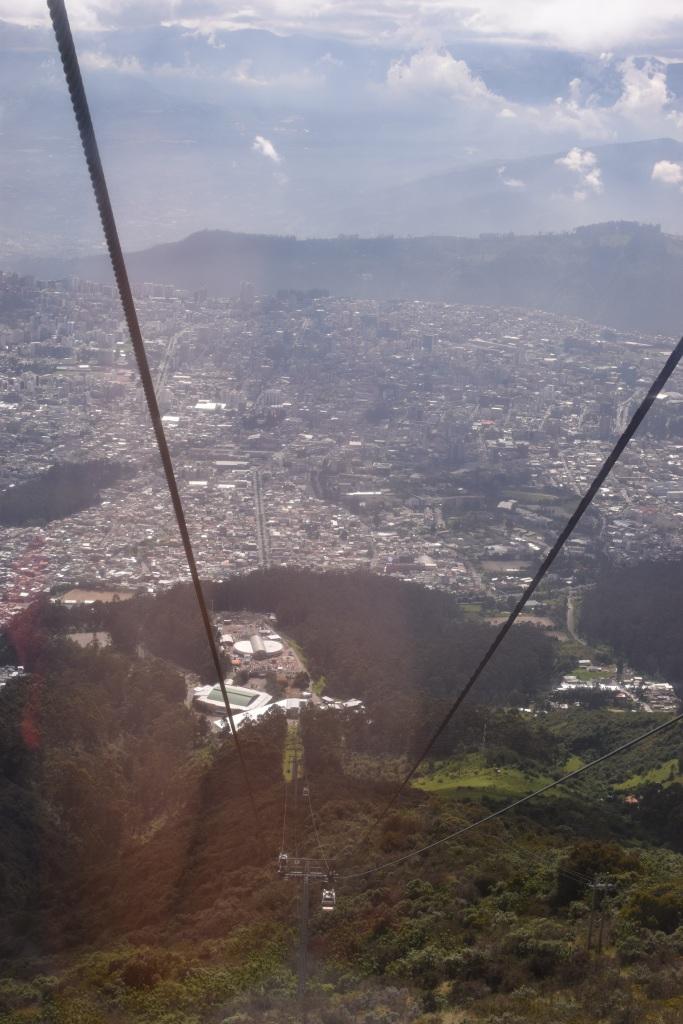 Ein kleiner Ausschnitt der Millionenmetropole Quito